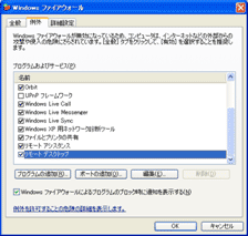 Windows �ե����䡼�������� - �㳰